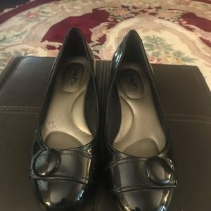 Coach and Four black wedges, size 10